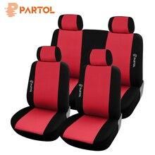 Partol дышащие Автокресло Обложки аксессуары для интерьера с хранения сумки спереди сзади протектор Авто сиденье для Lada автомобиль Volkswagen Kia