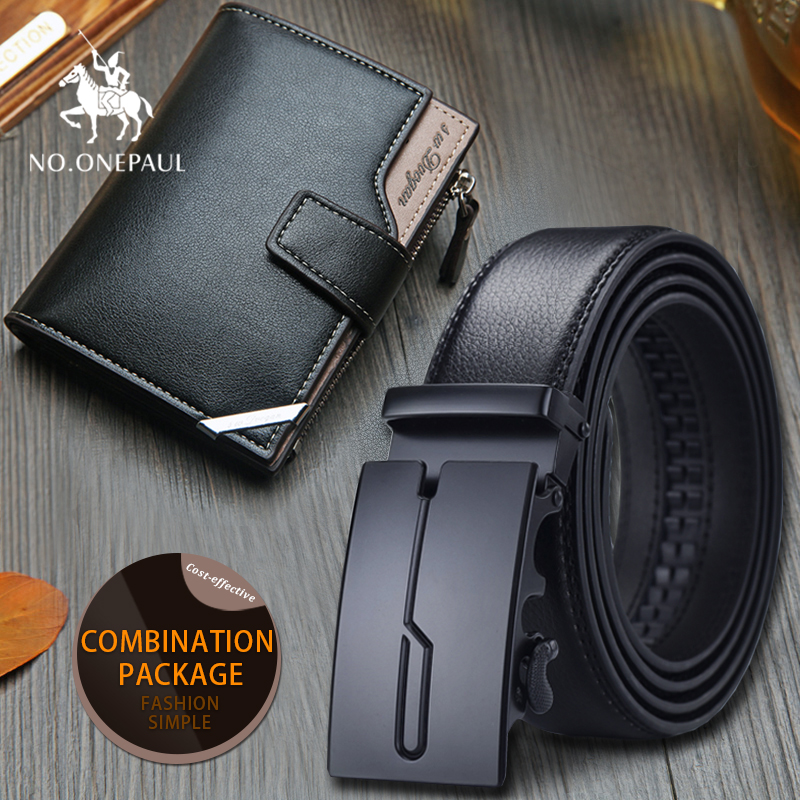 set/sets suit pin buckle  belt cow genuine leather luxury strap male belts for men  fashion classice vintage  gift wallet alloy