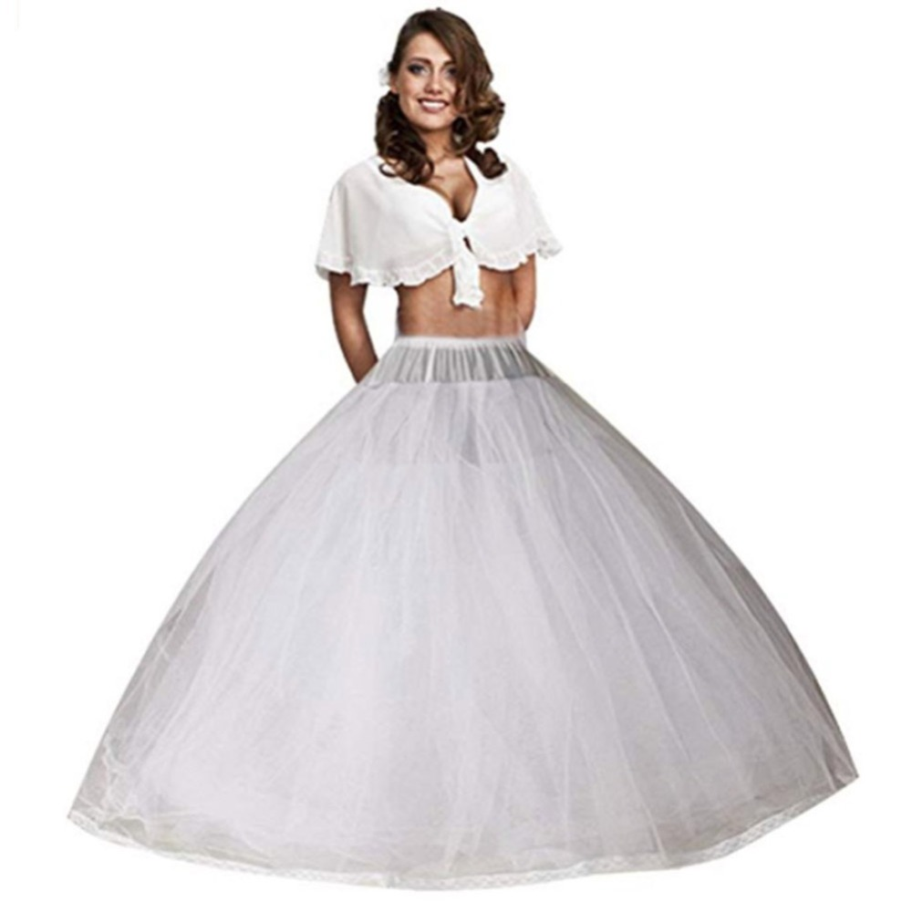 Plus A Line Bridal Petticoat 8 Layers Tulle Underskirt Women Petticoat Crinoline Without Hoop Bridal Wedding Accessories 2019
