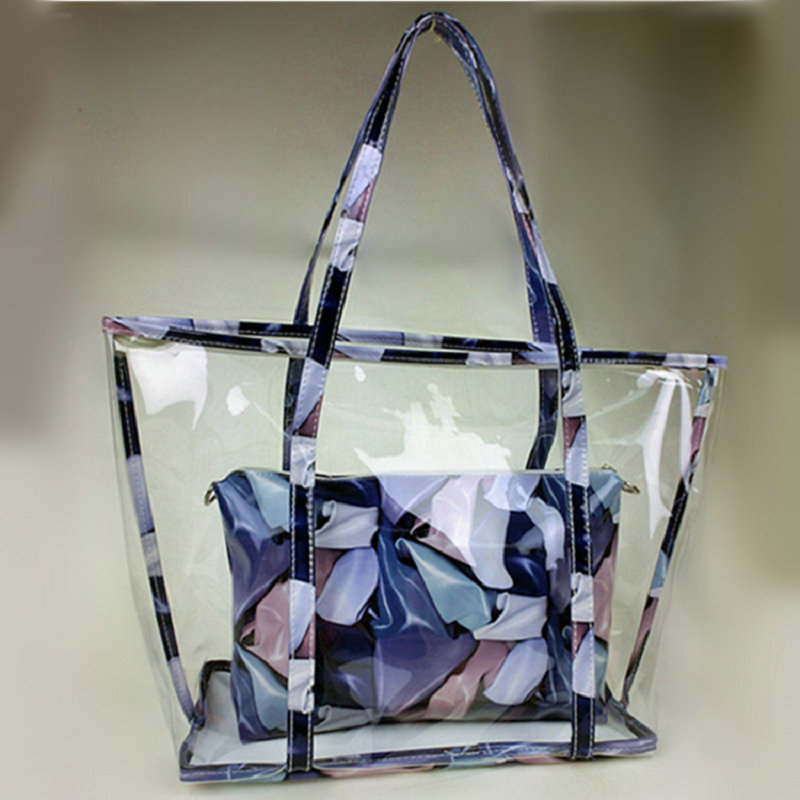 Woman Handbags Designer Tote Beach Bag See Through Shoulder Bags Clear Transparent Jelly In Top Handle From Luggage On Aliexpress