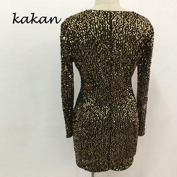 Kakan 2020 spring new women's sequin dress  slim sequin dress sexy nightclub club party dress 10