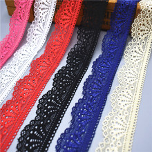 2018 New elastic lace ribbon Tape 30mm wide Trims stretch lace trim Embroidered Net Cord For Sewing costume african lace fabric(China)