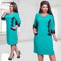 Плюс Размер Кружева Осень Зима Dress 2017 новый женский сплит лоскутное карман dress party dress vintage vestidos L-6XL
