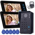 "7"" Color Video Door Phone Doorbell Video Intercom Camera Access Control System Video Intercom Monitor with Remote Control F4365A"