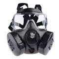 Tactical Wargame Paintball Full Face Skull Gas Masker voor Outdoor Airsoft Combat Jacht Beschermende Masker Leger Cosplay Items-Zwart