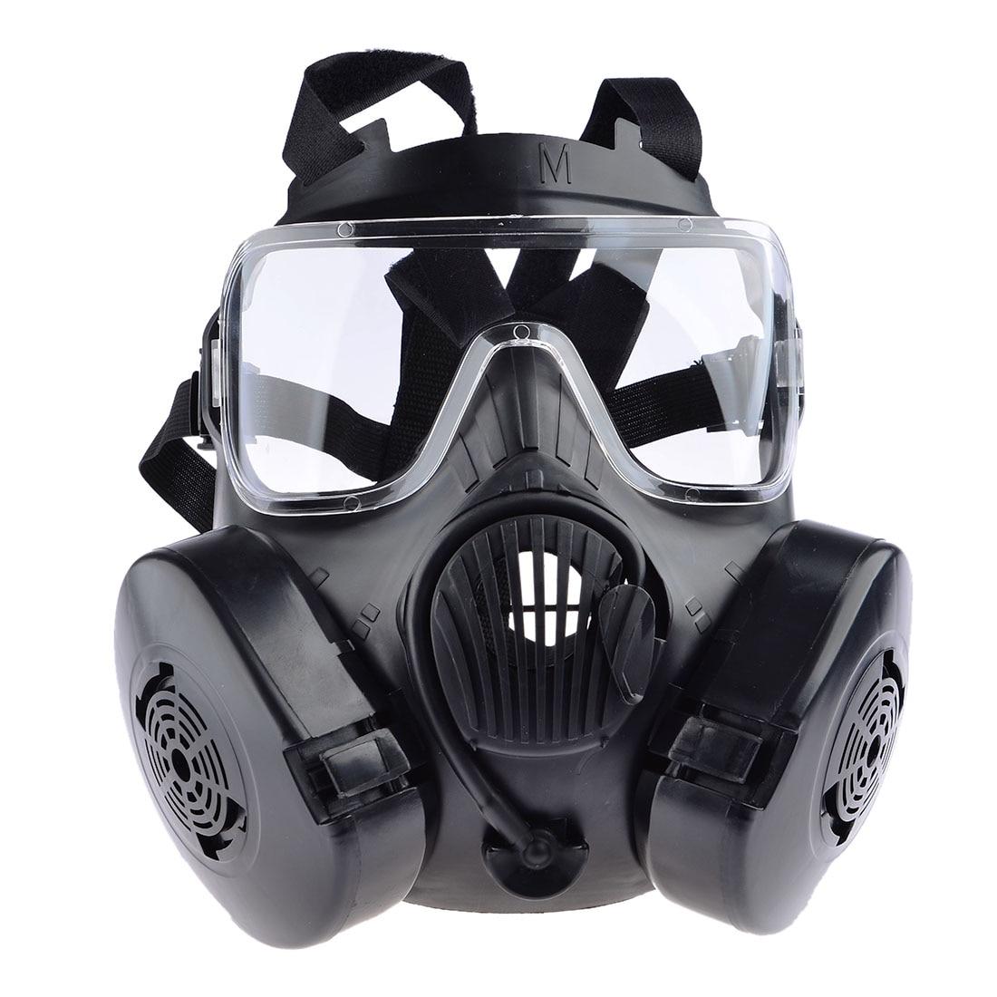 Tactique Wargame Paintball Full Face Crâne masque à gaz pour En Plein Air Airsoft Combat Chasse masque de protection Armée Cosplay Articles-Noir