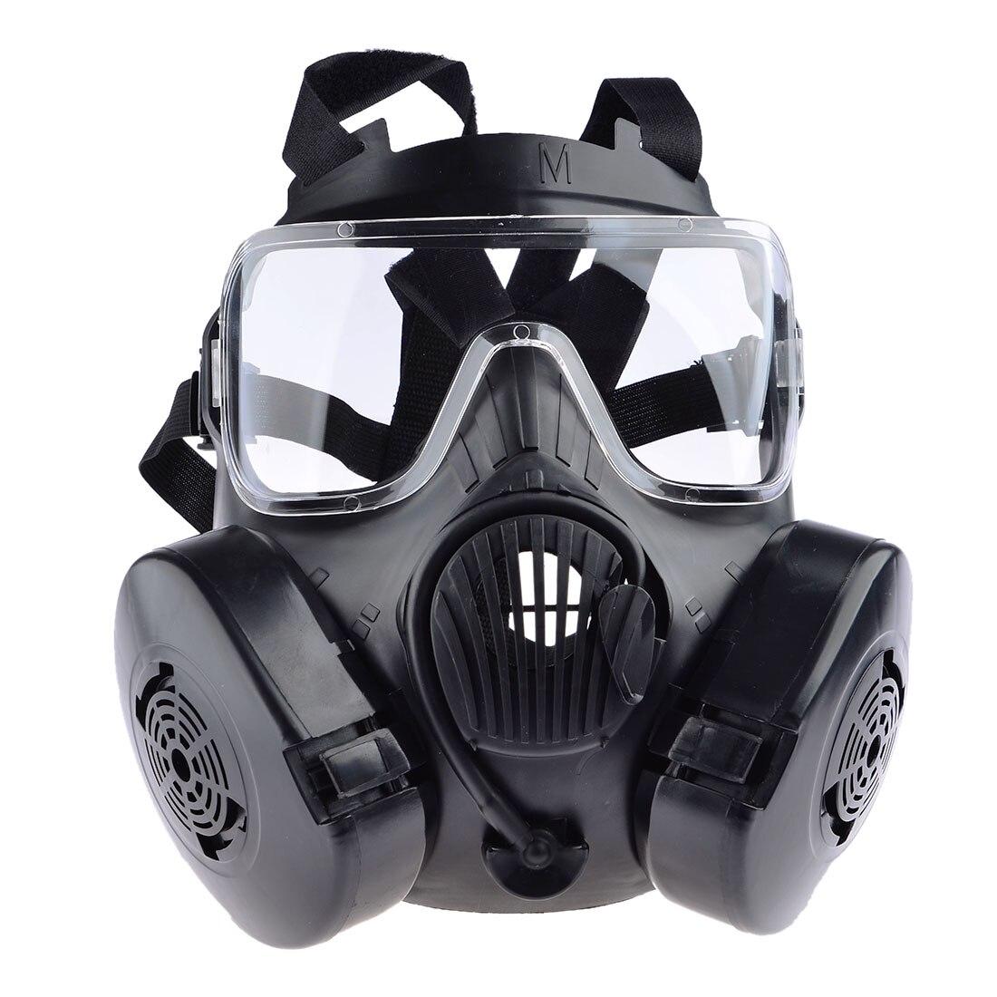 Tactique Wargame Paintball visage complet crâne masque à gaz pour extérieur Airsoft Combat chasse masque de protection armée Cosplay articles-noir
