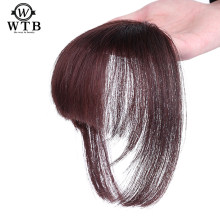 WTB Neat Front False Fringe Clip In Bangs Hairpiece With High Temperature Synthetic fashion princess cut(China)