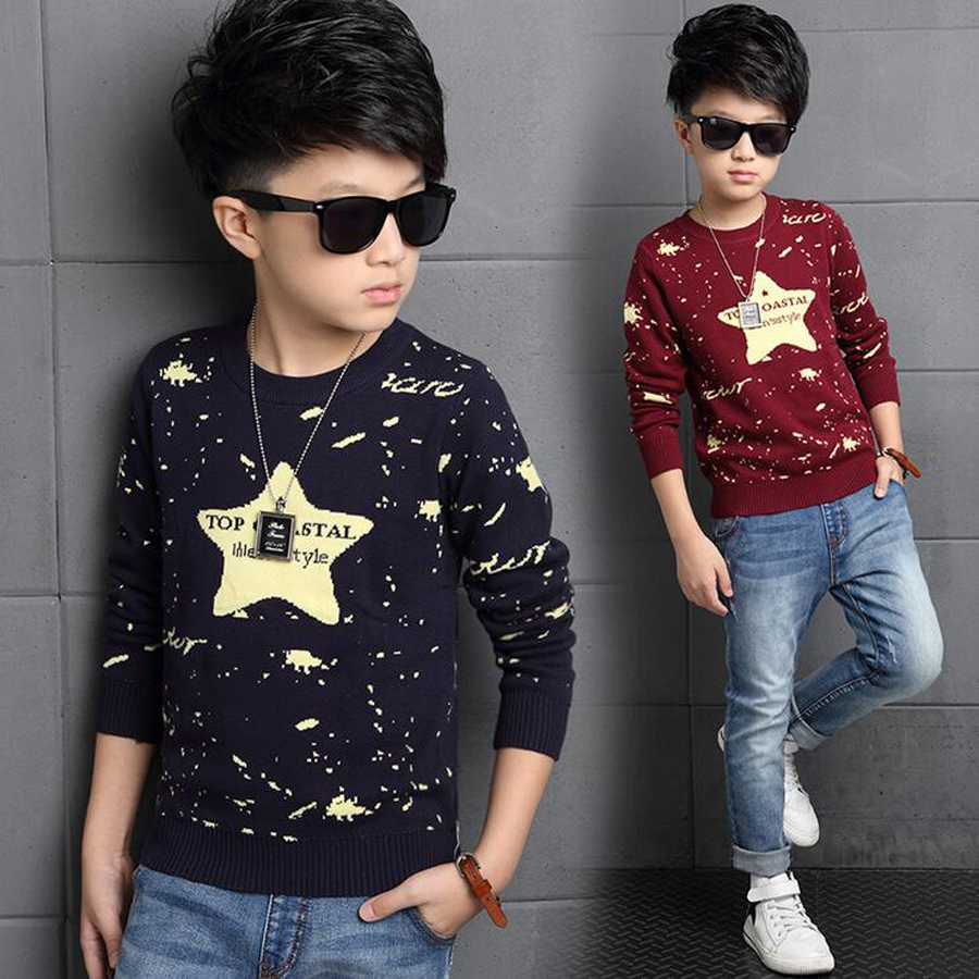 2017 Autumn Baby Boys Sweater Children Clothing Casual Big Boys Sweaters Kids O Neck Pullover Baby