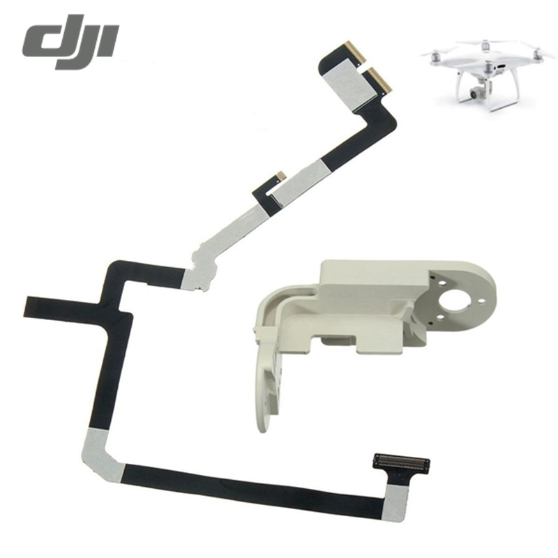 High Quality Flexible Gimbal Flat Ribbon Flex Cable + Yaw Bracket for DJI Phantom 4 Pro RC Camera Drone Spare Parts Accessories yaw arm ribbon cable kit gimbal repair for dji phantom 3 repair accessories