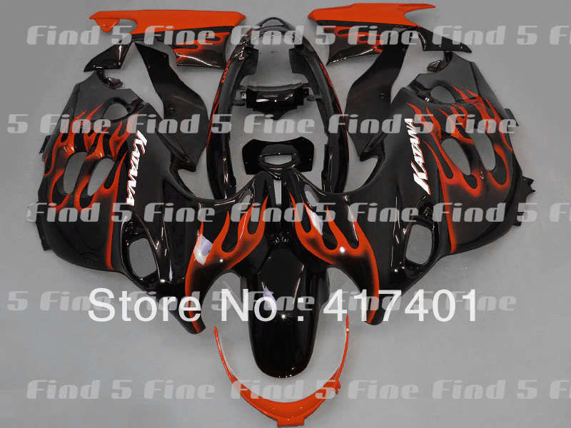 orange flame black for GSX600F 03 04 05 06 Katana 03 06 GSX750F 2003 2006 600F 750F 2003 2004 2005 2006 ABS fairing kit