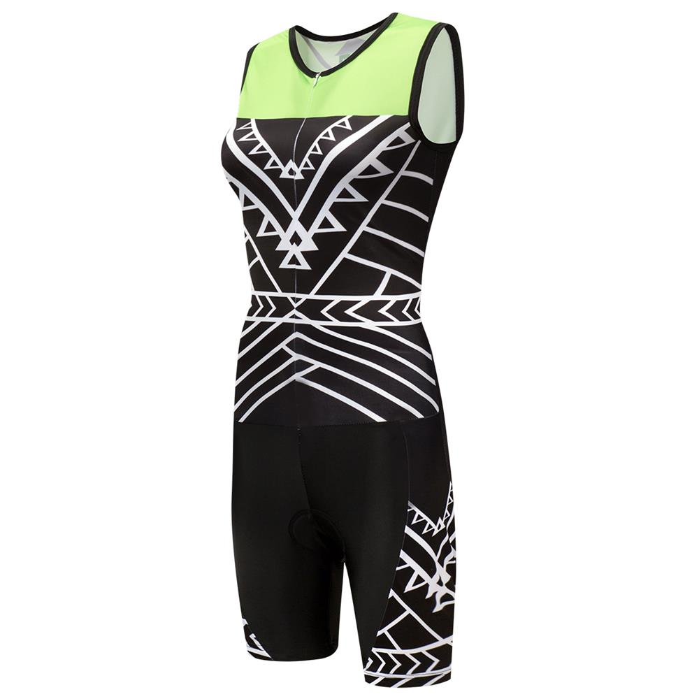 Sport Women s Sleeveless Triathlon Trisuit Cycling Skinsuit with Front  Zipper Jumpsuit Breathable Quick-Dry aaeff0b8a