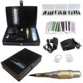 Tattoo Hybrid Pen Kit 1Pcs 2-In-1 Rotary Tattoo Machine & Permanent Makeup Pen Needle Tips Foot Pedal Skin Caps  Audio Interface