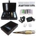 Tatuaje Híbrido Pen Kit 1 Unids 2-en-1 Máquina Rotatoria Del Tatuaje y Pluma Maquillaje permanente Aguja Consejos Pedal Piel Tapas de Audio interfaz