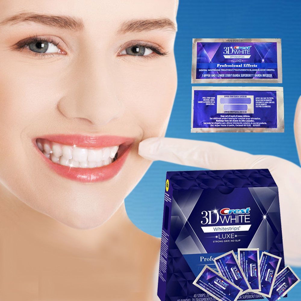 5 Pouch/10 Strips Crest 3D White Whitestrips LUXE Original Professional Effects Teeth Whitening Strips Tooth Bleaching Gel