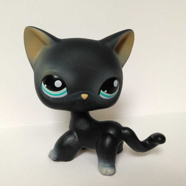 Pet Shop Animal Doll LPS Figure For Child Toy Boy and Gril Short Hair Cat  DWA275