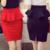 5XL Plus Size Peplum Falda Señora de la Oficina de La Colmena Falda Atractiva de Las Mujeres Mini Falda Lápiz Con la Raja Rojo Negro Falda Saias Sociais S2756