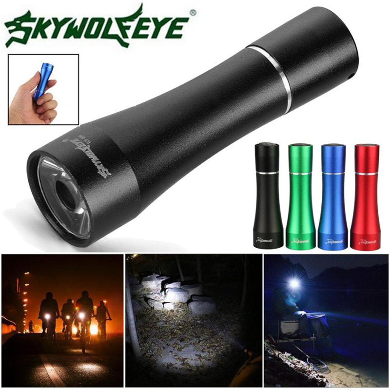 Flashlight on bicycle Cycling Bicycle light 1W LED Mini 500 Lumen Aluminum Alloy Flashlight Acrylic Lens Tools 2017 #2 F^