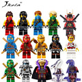 [Hot] 15pcs/Lot Compatible LegoINGlys NinjagoINGly Cole Kai Jay Lloyd Nya Skylor Zane Pythor Chen Building Blocks Ninja Toys