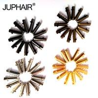 JUP 1 Bag /4 Pcs Noew Fashion Silver Gold Black Bronze Seamless Metal Shoelaces Tips Head Replacement Repair Aglets DIY Sneaker
