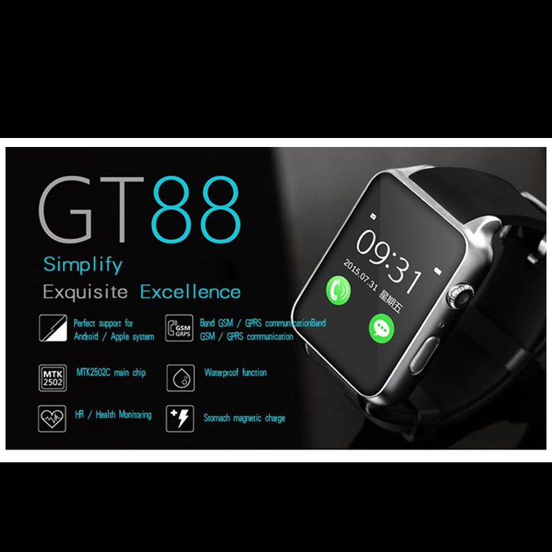 Wasserdichte 2502c Smart Watch Gt88 Bluetooth Sim V4 0