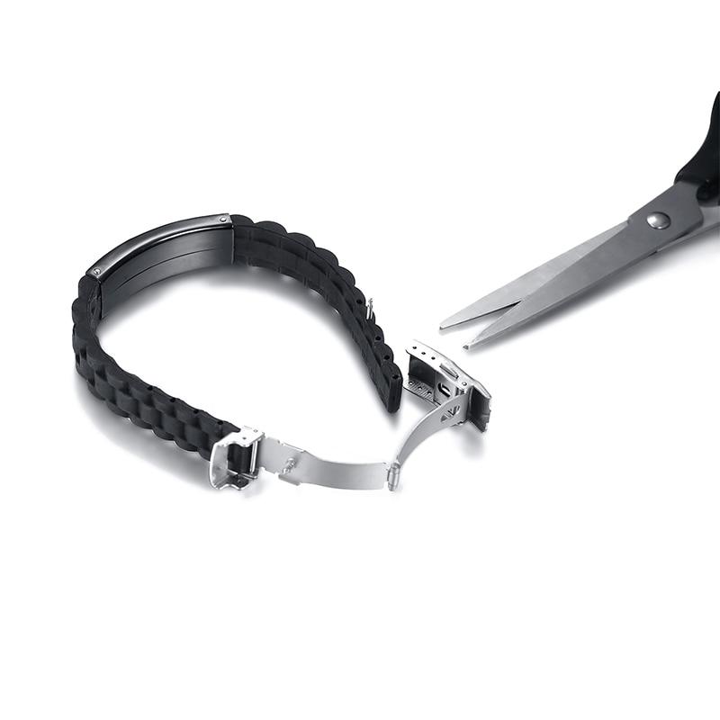 Image 4 - Мужской браслет с гравировкой, черный силиконовый браслет на  нескольких языках, на немецком, французском, ивритеID браслеты   -