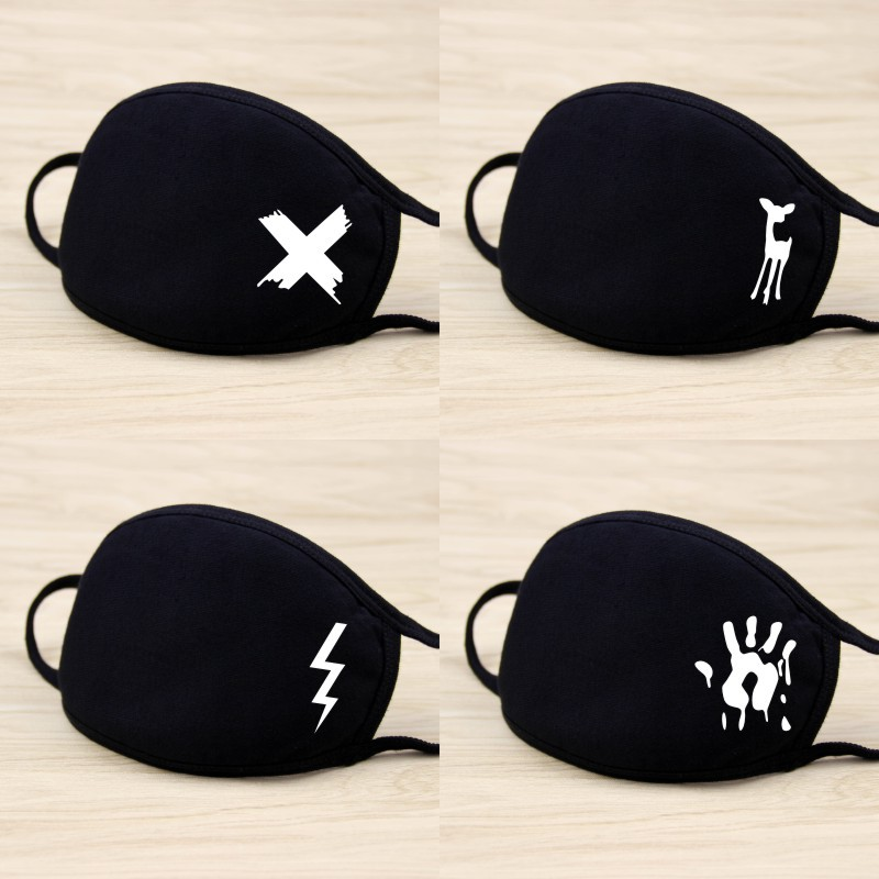 2019 Winter Mouth Mask Cotton Cute Anti Haze Black Dust Mask Nose Windproof Face Muffle Bacteria Flu Fabric Cloth Respirator