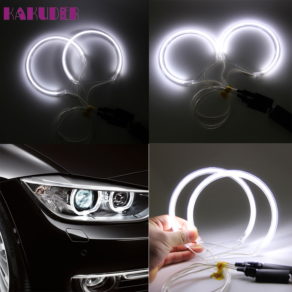 цены  car light New Very Cool 4x For BMW 3 Series E46 E36 E38 E39 CCFL Angel Eye Halo Light White No Projector luz del coche 17june14