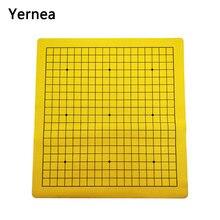 Yornéa-go – jeu d'échecs sur route, une face, en cuir synthétique, flanelle, damier, 19 lignes