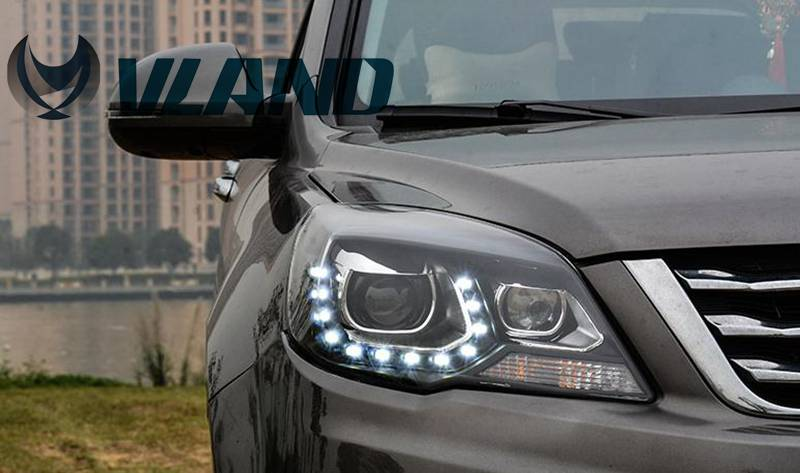 Free Shipping for VLAND Car Head Lamp for Great Wall H6 2011-2013 LED Headlight HID BI Xenon Headlamp with LED DRL Plug and Play free shipping for vland car head lamp for hyundai elantra led headlight hid h7 xenon headlamp plug and play for 2011 2013