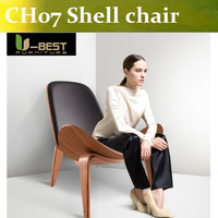 Free Shipping CH07 Shell Chair Premium Office Chairs Midcentury Modern Smiling Chair By Danish Designer Hans