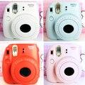 Fuji mini 8 cámara fujifilm fuji instax mini 8 película instantánea cámara de fotos 5 colores fujifilm mini películas 3 pulgadas de papel fotográfico
