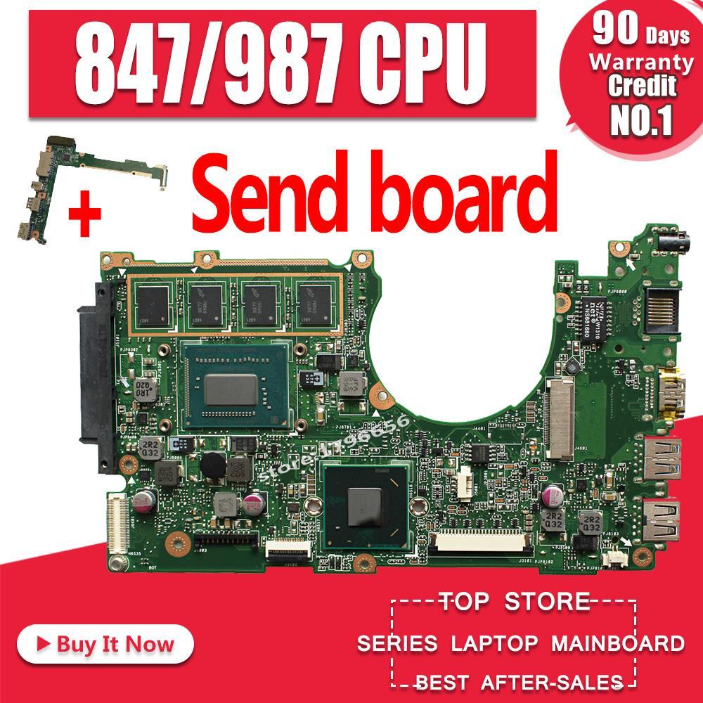 Send Board +for ASUS X202E Q200E Motherboard X201E X202E S200E 987/847 2G USB3.0 REV2.0 HD Graphics Integrated Test 100% OK