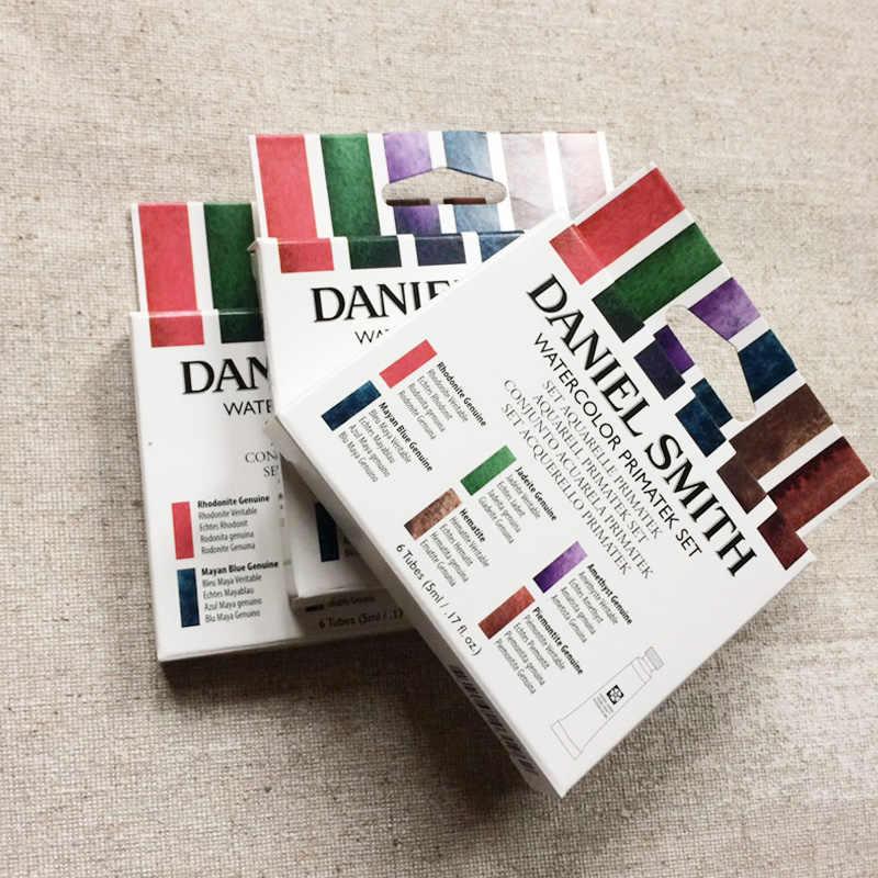 Conjunto de 5 ml de pintura de acuarela de 6 colores con base de D. O. D. O./. tubo de pintura