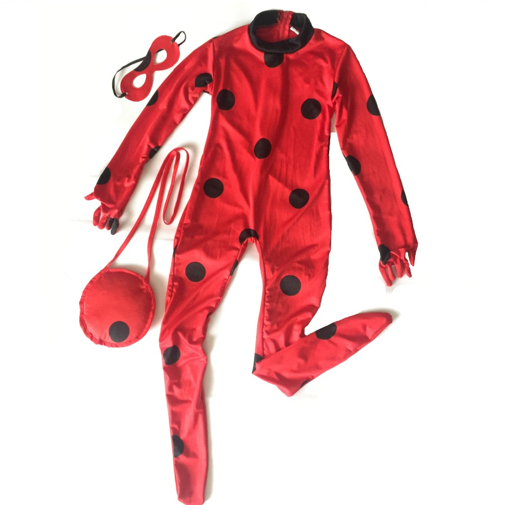 2017 girls kids miraculous ladybug cosplay costume. Black Bedroom Furniture Sets. Home Design Ideas