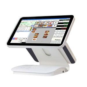 Композитный 15,6 дюймов емкостный сенсорный экран/сенсорный экран pos все в одном pos/pos терминал linux pos1519D для ресторана