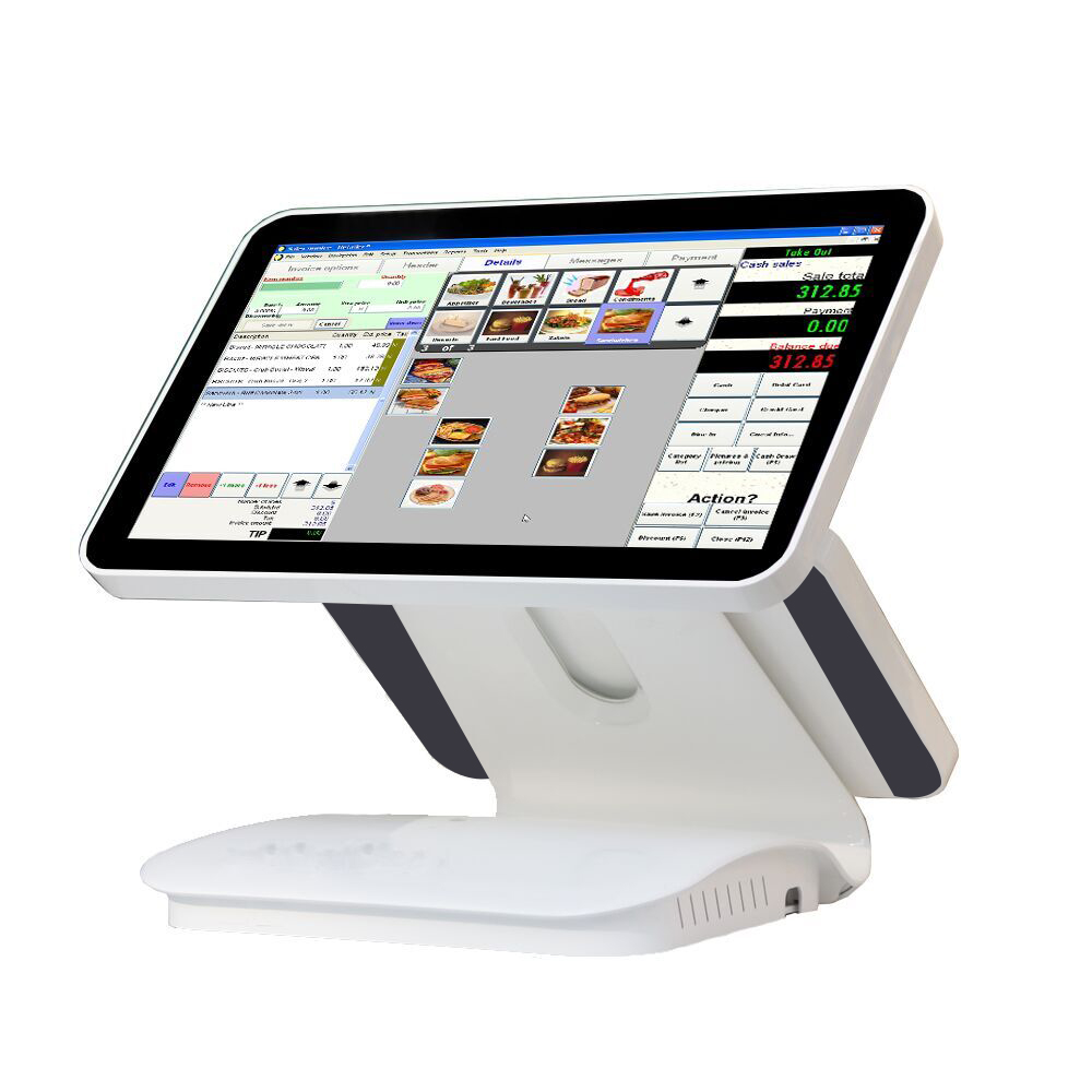 ComPOSxb 15.6 inch dual capacitive touch screen//touch pos all in one//pos terminal linux pos1519D For Restaurant
