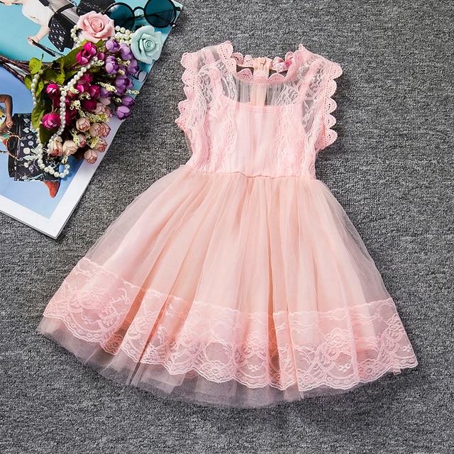 f774c58a39732 Bébé infantile robe de soirée pour fille vêtements rose fleur fille robe de  mariée robe de