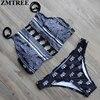ZMTREE Newest Bikini Set Sexy High Neck Swimsuit Push Up Bikinis 2016 Swimwear Women Bandage Biquini