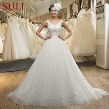SuLi SL-3008 Backless Sleeveless V-neck Wedding Dress
