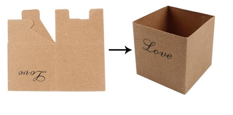 Image 5 - 100Pcs Wedding Bonbonniere Heart in Love Rustic Kraft Bark Candy Boxes with Burlap Chic Vintage Twine Wedding Favor Gift BoxGift Bags & Wrapping Supplies   -