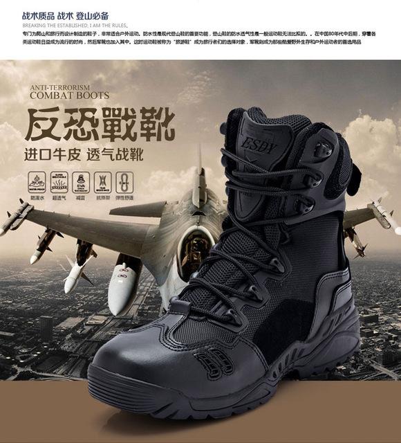 Nuevos Hombres Botas Militares Delta Botas de Desierto botas de Combate Táctico de Alta Calidad Zapatos de Escalada Al Aire Libre Otoño-Invierno Transpirable