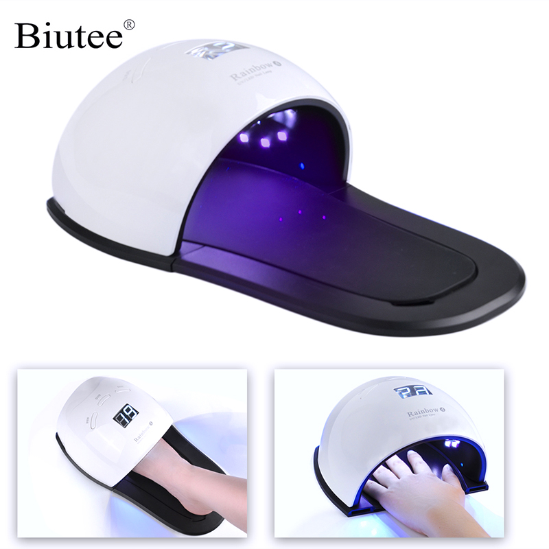 48W LED/UV Nail Dryer 2 IN 1 Gel Polish Curing Lamp With Food Pad For Hand Foot Manicure Nail Art Tool Drying Fingernail Toenail