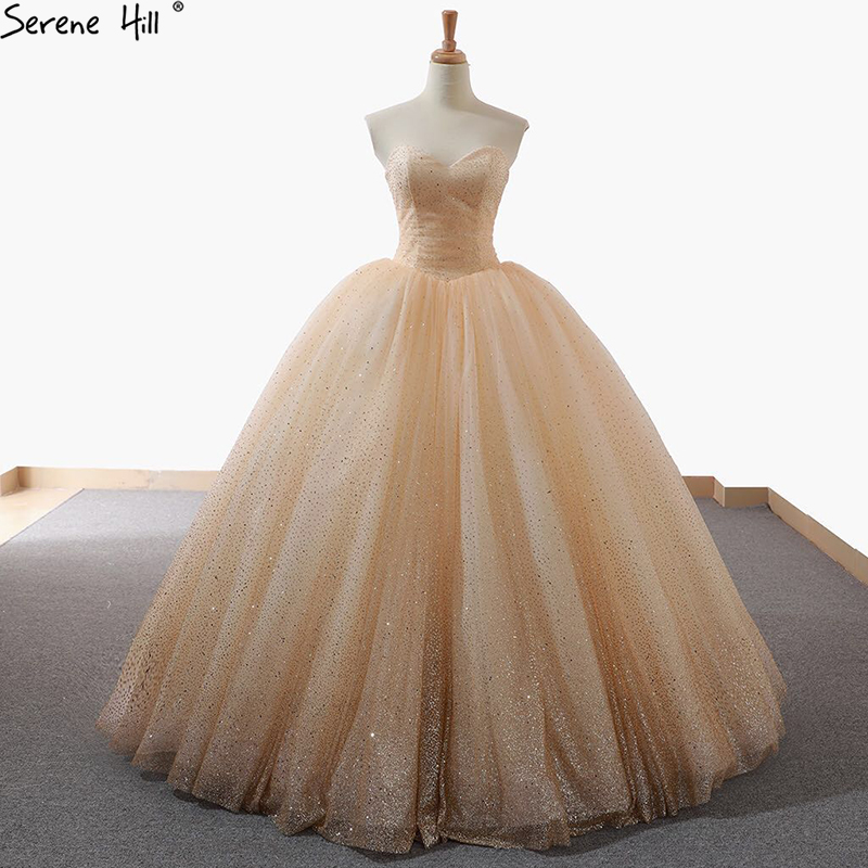 New Sleeveless Sparkle Princess Fashion Wedding Dress 2019