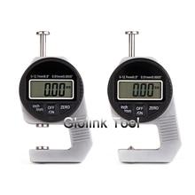 Мини 0,01 мм цифровой толщиномер метр 0-мм Большой ЖК-дисплей Электронный циферблат индикаторная губка инструмент для измерения толщины