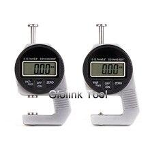 Mini 0.01 Mm Digitale Diktemeter Meter 0-12.7mmmm Grote Lcd Elektronische Meetklok Spons Dikte Measure Tool