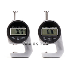 Mini 0.01mm Digital Thickness Gauge Meter 12.7mm Large LCD Electronic Dial Indicator Sponge Thickness Measure Tool