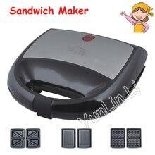 Бытовая вафельница, многофункциональный тостер Papani, сэндвич-машина, хлебопечка, маленькая машина для завтрака, KY-18