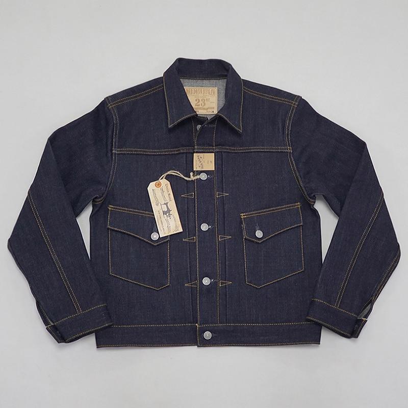 BOB DONG 23oz Selvage Denim Jacket Vintage Clothing 507XX Trucker Selvedge Coat