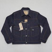 BOB DONG 23oz Selvage kurtka dżinsowa ubrania Vintage 507XX Trucker Selvedge Coat